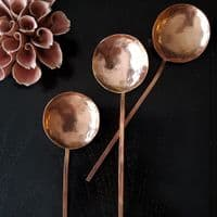 Polished Copper Handcrafted Spoon